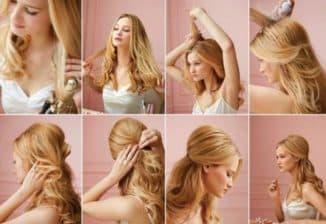 вечерние укладки на средние волосы
