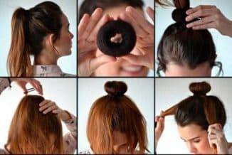 прически на средние волосы с валиком