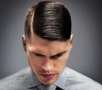 мужские стрижки с пробором на бок