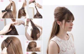 прическа с валиком на длинные волосы пошагово