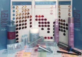палитра цветов краски для волос концепт