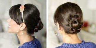 как красиво собрать волосы в пучок