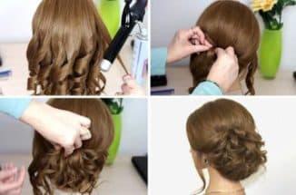 как сделать прическу дома на средние волосы