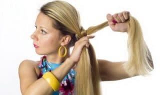 как заплести пышную косу самой себе