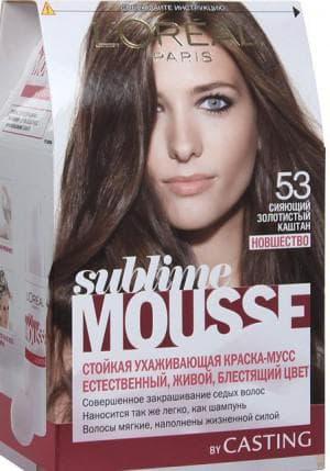 краска для волос Лореаль Sublime Mousse, оттенок 53