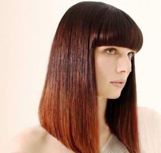 стрижка каре на длинные волосы с челкой