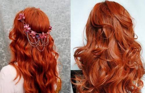 темно-рыжий янтарный цвет волос