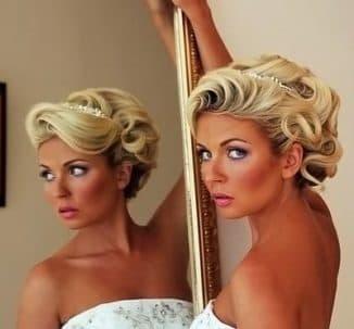 свадебная прическа на короткие волосы своими руками