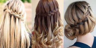 плетения водопада из волос самой себе