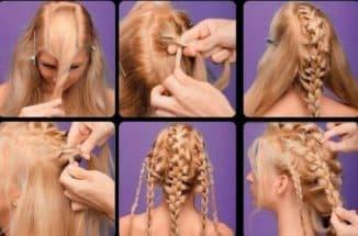 красивая коса на средние волосы