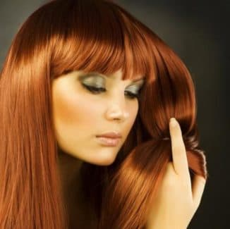 оттенки рыжего цвета волос палитра