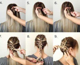 косички на средние волосы на каждый день