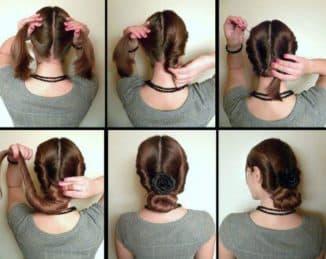самые простые прически на средние волосы