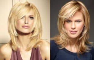 как укладывать лесенку на средние волосы