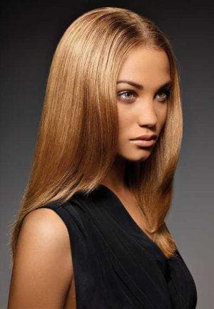 золотисто-карамельный цвет волос