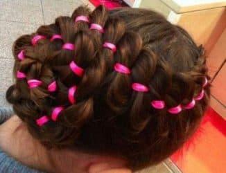 плетение кос с лентой пошаговая инструкция
