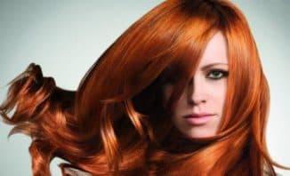 медно рыжий цвет волос