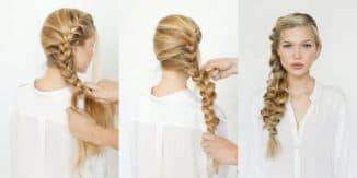 как сплести косу из 4 прядей