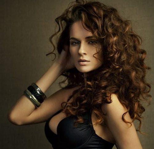 Красивая химия на средние волосы