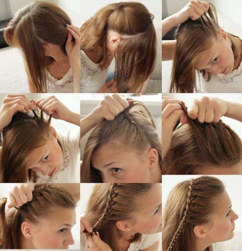 Как собрать волосы по бокам