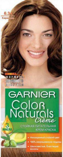 краска Гарньер Color Naturals 6.34 карамель