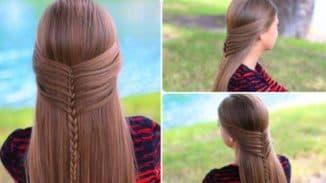 красивые прически для девочек на длинные волосы