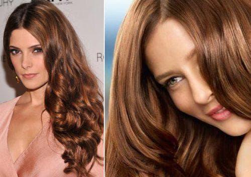 шоколадно-карамельный цвет волос
