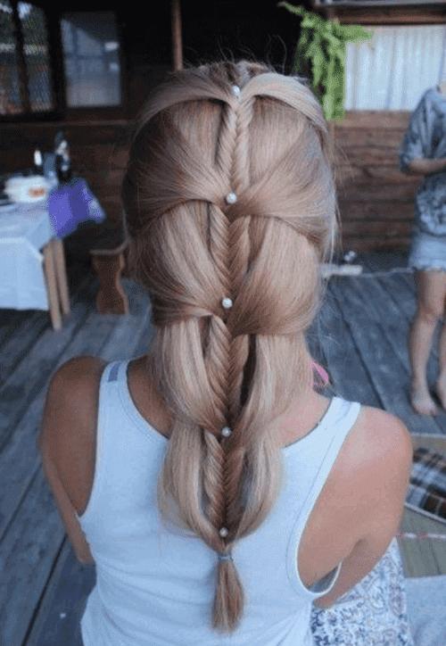 Подробные схемы плетения косички дракончик на разных волосах