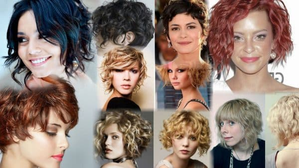 Асимметричное каре на вьющиеся волосы