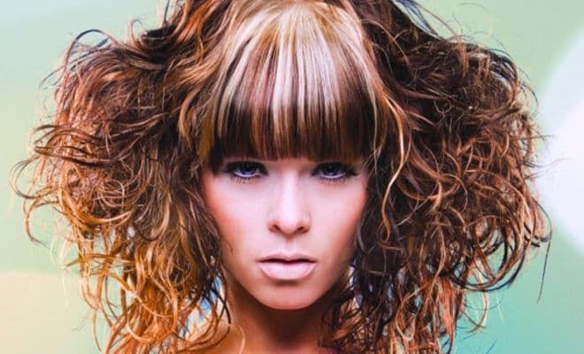 Мелирование на короткие волнистые волосы
