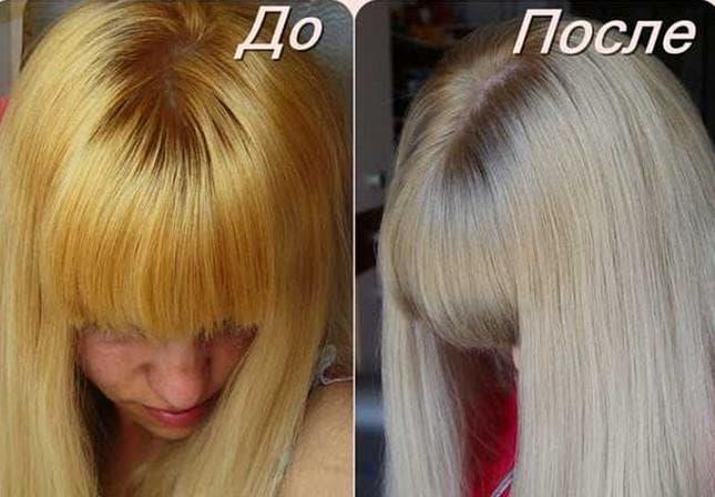 Как затонировать волосы от желтизны краской