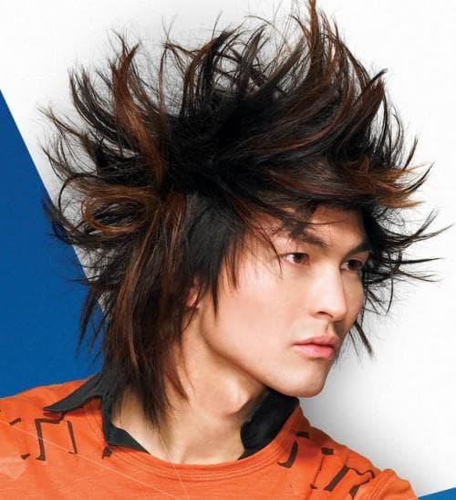 эпатажная стрижка для мужчин на длинные волосы