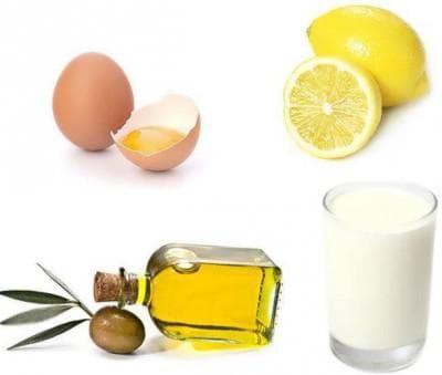 маска для волос с кефиром, яйцом и лимоном