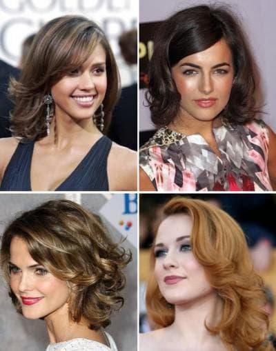 быстрая укладка на бок на средние волосы