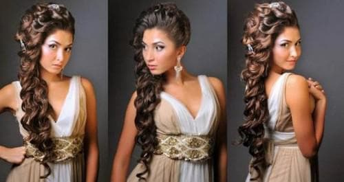 коса по-гречески на средние волосы