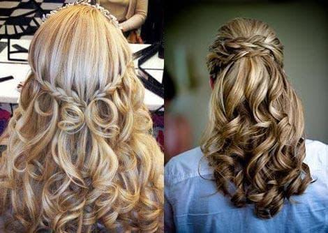 прическа с кудрями Мальфина с начёсом на длинные волосы