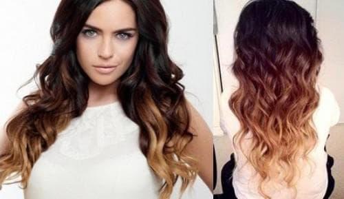 покраска в два цвета длинных волос