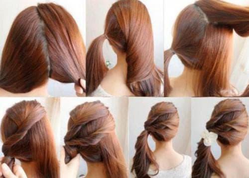 простая прическа на длинные волосы на каждый день