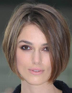 причёска боб на круглое лицо