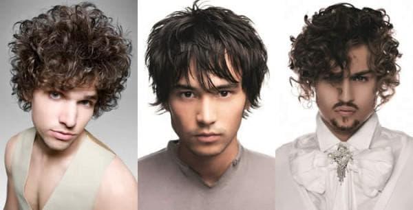 причёска на треугольную форму лица мужчины
