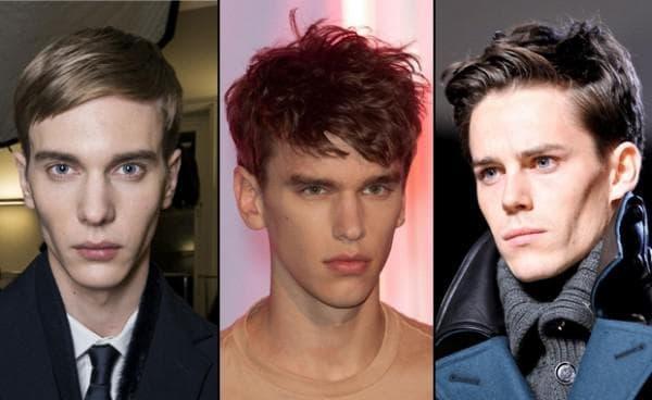 причёска на серцевидную форму лица мужчины