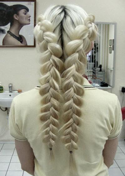 прическа французская коса на длинные волосы на каждый день