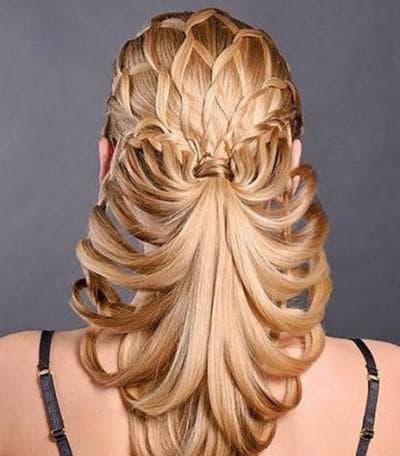 сложная прическа на длинные волосы на каждый день