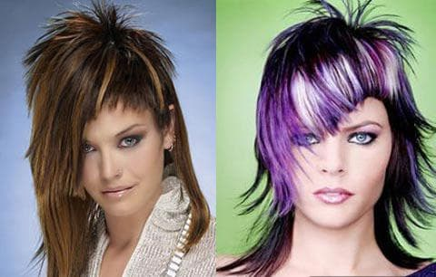 Ассиметричные стрижки на средние волосы
