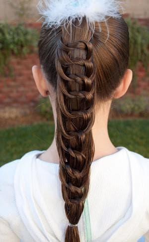 причёска узелок для детей