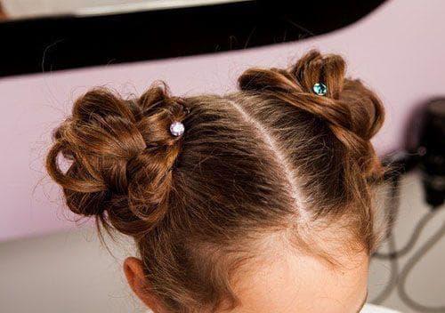 причёска баранка для детей
