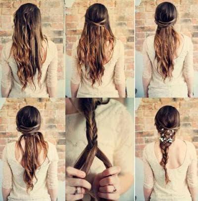 сложная прическа ободки из волос на длинные волосы на каждый день