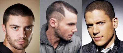 ультракороткая мужская причёска