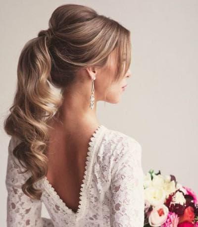 красивые хвосты на длинные волосы