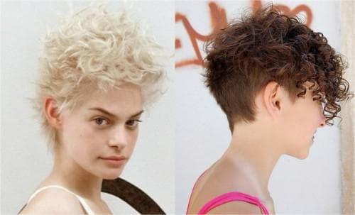 короткая стрижка гарсон на волнистые волосы